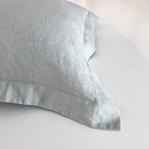European Vida Pure Linen Oxford Single Pillowcase - Dove