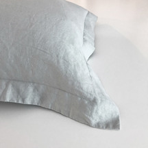 European Vida Pure Linen Euro Single Pillowcase - Dove