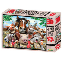 Super 3D 500-Piece Derp Farm Selfies Jigsaw Puzzle