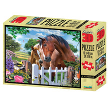 Super 3D 500-Piece At The Garden Gate Jigsaw Puzzle