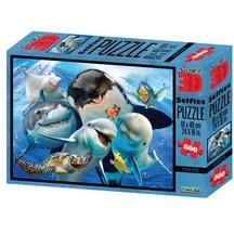 Super 3D 500-Piece Ocean Selfies Jigsaw Puzzle