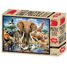 Super 3D 500-Piece African Oasis Jigsaw Puzzle
