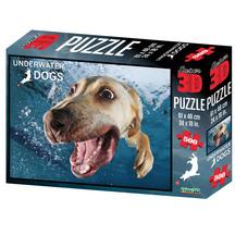 Super 3D 500-Piece Underwater Dog Bella Jigsaw Puzzle