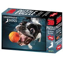 Super 3D 500-Piece Underwater Dog Rocco Jigsaw Puzzle