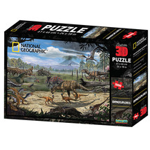 Super 3D 500-Piece Dinosaur Marsh Jigsaw Puzzle