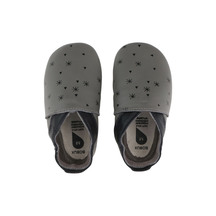 Bobux Soft Sole Snow Flakes Grey
