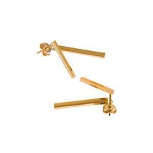 Republic Road Jacket Earrings Gold Plated