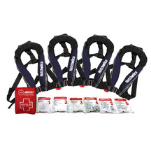 Hutchwilco Inflatable Lifejackets 4 Pack with Bonus First...