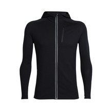 Icebreaker Men's Quantum Long Sleeve Zip Hood Black