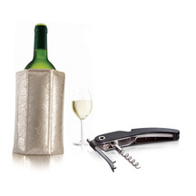 Vacu Vin Single Pull Corkscrew and Wine Active Cooler