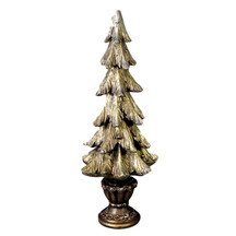 Gold Christmas Tree with Base