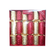 Gold and Red Christmas Crackers - Set of 6