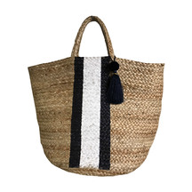 Briarwood Striped Woven Basket