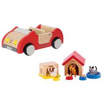 Hape Pets & Car Set