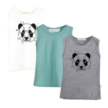 Mokopuna Merino singlet bundle - panda print