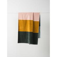 Citta Colour Block Velour Beach Towel