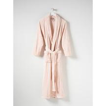Citta Spot Velour Dressing Gown - Peony