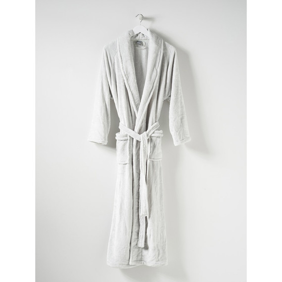 Fly Buys Citta Spot Velour Dressing Gown Dove Tint