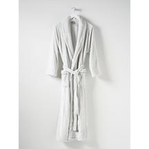 Citta Spot Velour Dressing Gown - Dove Tint
