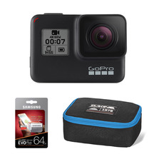 GoPro HERO7 Black with 64GB Memory Card & POV Case