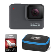 GoPro HERO7 Silver with 64GB Memory Card & POV Case