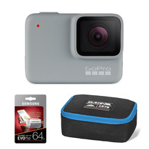GoPro HERO7 White with 64GB Memory Card & POV Case