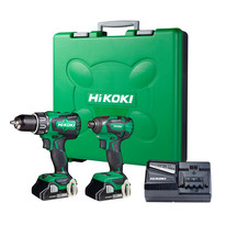 HiKOKI 18V Brushless Combo Kit -  Impact Drill, Impact Dr...