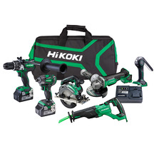 HiKOKI 18V 6.0Ah Brushless 6 Tool Kit