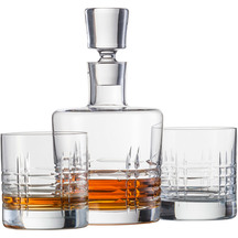Schott Zwiesel Crystal Decanter & 2 Whisky Glasses 290ml ...