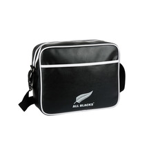 All Black Retro Messenger Bag
