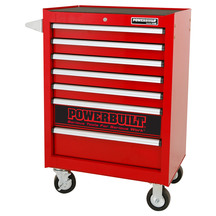 Powerbuilt 7 Drawer Roller Cabinet - Racing Red