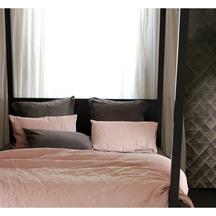 European Vida Pure Linen Vintage Pink Flat Sheet