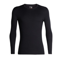 Icebreaker Men's 200 Oasis Long Sleeve Crewe - Black