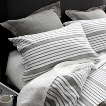 SENECA Sorrento Stripe Ash Duvet Set