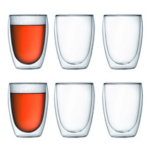 Bodum the Pavina 350ml Double Wall Glasses 6 Pack