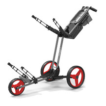 Sun Mountain Pathfinder 3 Pushcart Gunmetal/Red