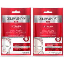 Dr LeWinn's R4 Collagen Face Mask 1 Pack / Eye Mask 3 Pac...