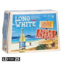 Long White Apple & Pear 4.8% 10 Pack Bottles 320ml