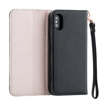 3SIXT NeoClutch Case for iPhone XS - Black/Dusty Pink