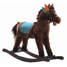 Brown Rocking Horse Western