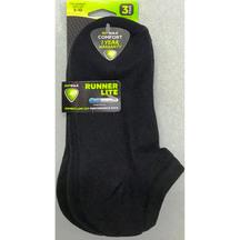 Sof Sole Coolmax Runner Lite Sock 3pr W5-10 BLK  X 2 PACKS