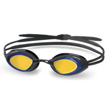 Head Goggle Stealth Black Blue Mirrored