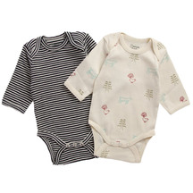 Nature Baby 2 Pack Long Sleeve Body Suits - 0-3 Months