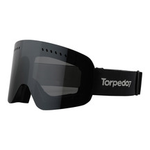 Torpedo7 Adult Crater Snow Goggle with Spare Lens - Black