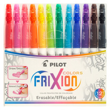 Pilot Frixion Colours Erasable Marker Pack of 12