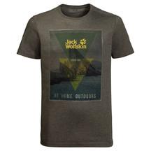 Jack Wolfskin Men Mountain Tee - Pinewood