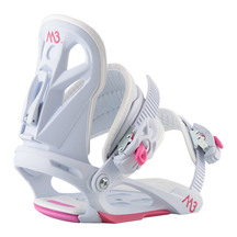 M3 Girls Solstice Snowboard Bindings - White