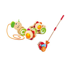 Hape Pull & Push Set-Caterpilla & Musical Bird