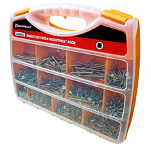 Powerbuilt 1000pc Robertson/Square Screw Assortment Pack