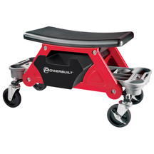 Powerbuilt Rolling Work Seat with Organizer Tray